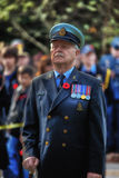 Remembrance Day Canadian Veteran. A proud Canadian naval veteran at the Remembrance Day Ceremonies in Oakville, Ontario Stock Photos