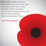 Remembrance Day. Card in  format Stock Image