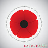 Remembrance Day. Card in  format Royalty Free Stock Image