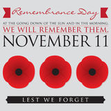 Remembrance Day Vector Illustration