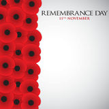 Remembrance Day. Card in vector format Stock Photography