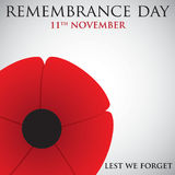 Remembrance Day. Card in vector format Royalty Free Stock Image