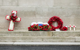 Remembrance Day: Cenotaph wreaths Royalty Free Stock Photos