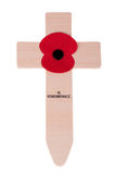 Remembrance Day Cross with poppy Royalty Free Stock Image