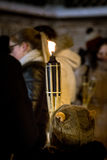 Remembrance day for fallen freedom fighters. Latvian rifleman tribute - candle festival Stock Photography