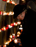 Remembrance day for fallen freedom fighters. Latvian rifleman tribute - candle festival Stock Image