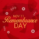 Remembrance Day. Illustration of a Banner for Remembrance Day vector illustration