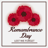 Remembrance Day. Illustration of a Banner For Remembrance Day Royalty Free Stock Photo