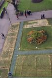 Remembrance Day memorial in Princes Street Park, Edinburgh. Scotland, seen from above in the Scott Monument Stock Photos