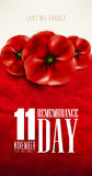 Remembrance day - 11 november - lest we forget Royalty Free Stock Photo