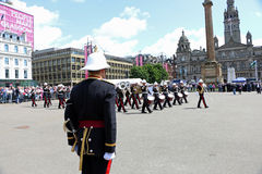 Remembrance day parade Glasgow Stock Image