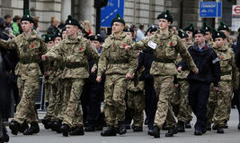 2015, Remembrance Day Parade, London Royalty Free Stock Photography