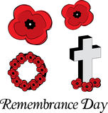 Remembrance Day Poppies. A collection of vector poppies for Remembrance Day Royalty Free Stock Images