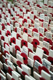 Remembrance Day: tribute crosses Stock Images