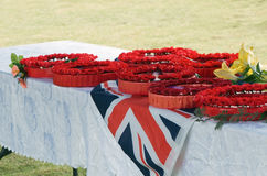 Remembrance Day Wreaths Royalty Free Stock Photos
