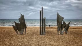 OMAHA outgoing beach in France Royalty Free Stock Photo