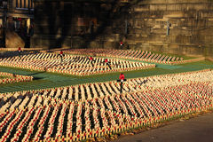 Remembrance display in Princes Gardens Edinburgh Stock Photos
