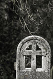Remembrance and Mortality. Ancient graveyard headstone. Stock Photography