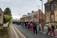 The Remembrance Parade on Remembrance Sunday 2016 in Wrexham Wales Royalty Free Stock Images