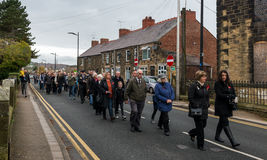 The Remembrance Parade on Remembrance Sunday 2016 in Wrexham Wales Royalty Free Stock Photography