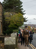 The Remembrance Parade on Remembrance Sunday 2016 in Wrexham Wales Stock Photography