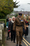 The Remembrance Parade on Remembrance Sunday 2016 in Wrexham Wales Stock Images