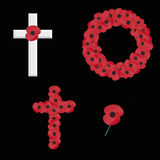 Remembrance sunday on black vector Royalty Free Stock Images