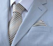 Remende o terno com camisa branca, laço, lenço Imagem de Stock Royalty Free