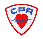 Remendo do CPR fotos de stock