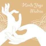 Remet des mudras de yoga Photographie stock