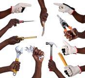 Remet des outils de fixation Image libre de droits