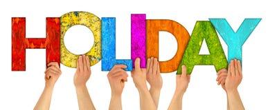 Remet des vacances en bois colorées de lettre Photos libres de droits