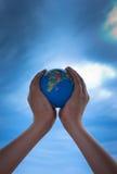 Remet le globe Photo libre de droits