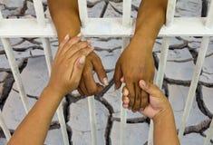 Remet le sol fendu par prison Images libres de droits