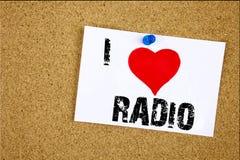 Remettez à amour de l'apparence I d'inspiration de légende des textes d'écriture le media par radio de signification de concept e Image libre de droits