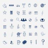 Remettez à aspiration les griffonnages sociaux de signe et de symbole de media Photos stock