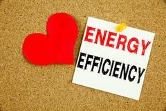 Remettez à efficacité de technologie de la construction de signification de concept de rendement énergétique d'amour de l'apparen Image stock