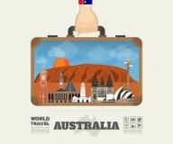 Remettez à point de repère de transport d'Australie le voyage et le voyage globaux illustration libre de droits