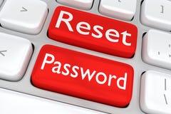 Remettez à zéro le concept de mot de passe Images stock