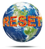 Remettez à zéro les attitudes pour la terre de planète Image libre de droits