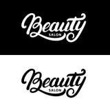Remettez écrit la lettre du logo de salon de beauté, label, insigne, emblème Photographie stock libre de droits