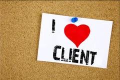 Remettez aimer d'affaires de client de client de signification de concept de client d'amour de l'apparence I d'inspiration de lég Images libres de droits