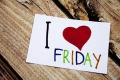 Remettez aimer d'annonce de salutation de signification de concept de vendredi d'amour de l'apparence I d'inspiration de légende  Photo stock