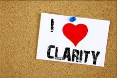 Remettez aimer de message de clarté de signification de concept de clarté d'amour de l'apparence I d'inspiration de légende des t Photos libres de droits