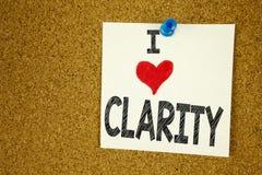 Remettez aimer de message de clarté de signification de concept de clarté d'amour de l'apparence I d'inspiration de légende des t Image libre de droits
