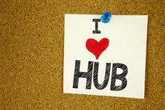 Remettez aimer de publicité de HUB de signification de concept de HUB d'amour de l'apparence I d'inspiration de légende des texte Photographie stock libre de droits