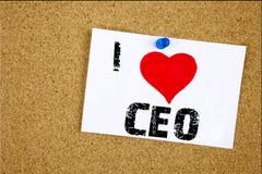 Remettez au Chef de opération Business Executive President de signification de concept de Président d'amour de l'apparence I d'in Images stock