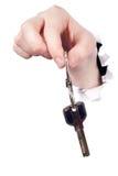 Remettez la clé en métal de fixation Images stock
