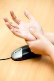 Remettez la douleur de la souris Images libres de droits
