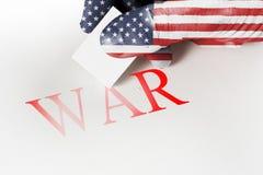 Remettez la gomme texturisée de drapeau pour effacer la guerre de mot Concept de paix Image libre de droits